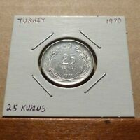 25 KURUS COIN   1970   TURKEY