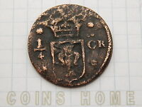 CINS HME CIRCULATED 1633 34? SWEDEN 1/4 ORE LOTSW3 UNGRADED UNCERTIFIED