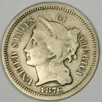 1876 THREE CENT NICKEL 3CN   NICE FINE   PRICED FOR QUICK SALE