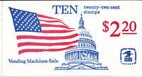 2116 - 22 FLAG OVER CAPITOL DOME ISSUE - BK145 MNH BOOKLET OF 10 FV $2.20