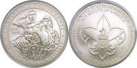 2010 P $1 BOY SCOUTS COMMEMORATIVE SILVER DOLLAR UNCIRCULATED CAP ONLY