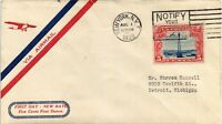 DR JIM STAMPS US FIRST DAY REDUCED RATE AIR MAIL COVER NEW YORK SLOGAN CANCEL
