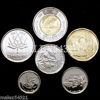 CANADA 2017 COMPLETE COIN SET 5 CENTS TO 2 DOLLARS UNCIRCULATED  6 COINS