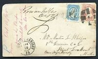 CSA -- POW PRISONER-OF-WAR COVER -- MIXED FRANKINGS U.S./CSA - - FRONT ONLY
