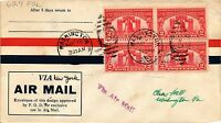 DR JIM STAMPS US SESQUICENTENNIAL EXPOSITION AIR MAIL FDC COVER BLOCK DPO