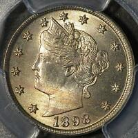 1898 PCGS MINT STATE 65 LIBERTY NICKEL  V 5C GEM UNCIRCULATED SHIPS FREE