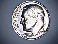 1980 P ROOSEVELT DIME UNCIRCULATED 03798  FROM MINT SET