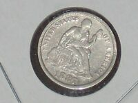 1887 SEATED LIBERTY DIME TEN CENT  10C SILVER COIN