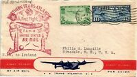 DR JIM STAMPS US NY FAM 18 FIRST FLIGHT AIR MAIL COVER IRELAND BACKSTAMP