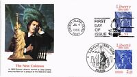 DR JIM STAMPS US STATUE OF LIBERTY CENTENNIAL JOINT ISSUE FIRST DAY COVER PARIS