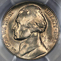 1952 S JEFFERSON NICKEL PCGS MS65 SUPER SHARP GEM W/ GREAT LUSTER O13