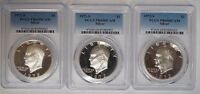 LOT OF THREE 3 1972 S SILVER EISENHOWER IKE DOLLAR PR69DCAM PCGS PROOF