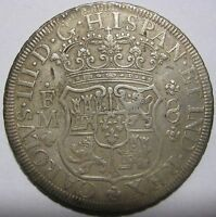 1771FM   MEXICO/SPAIN   8 REALES GENUINE SILVER COIN