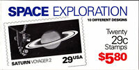 2568-77 - 29 SPACE EXPLORATION ISSUE - BK192 MNH BOOKLET OF 20 FV $5.80