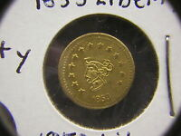 1853 1855 AND 1858 LIBERTY HEAD CALIFORNIA GOLD 1/2 TOKENS/COIN: WITH A BEAR