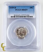 1939 D MERCURY SILVER DIME 10C GRADED BY PCGS MS65