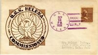 DR JIM STAMPS US NAVAL COMMISSION LIGHT CRUISER USS HELENA EVENT COVER 1939