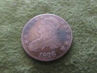 1826 BUST SILVER HALF DOLLAR OVERTON VARIETY FIFTY CENTS US 50C COIN