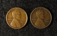 2- 1913-S LINCOLN WHEAT CENT