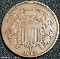 1867 2C TWO CENT PIECE GM1985
