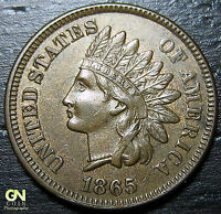 1865 INDIAN HEAD CENT  --  MAKE US AN OFFER  Y7065