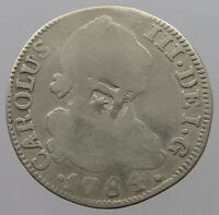 TRINIDAD 2 REALES 1784 COUNTERMARKED T25 145