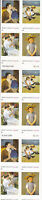 3804-7B - 37 MARY CASSATT PAINTINGS ISSUE, MNH PANE OF 20 FV $7.40