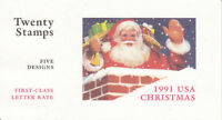 2581-5 - 29 CHRISTMAS SANTAS 1991 ISSUE - BK194 MNH BOOKLET OF 20 FV $5.80