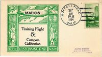 DR JIM STAMPS US NAVAL USS MACON TRAINING FLIGHT EVENT COVER 1934