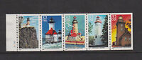 GREAT LAKES LIGHTHOUSES, BOOKLET PANE OF 5,  SCOTT 2969-2973, MNH, CAT $12.25