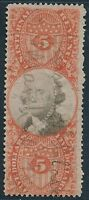 DR JIM STAMPS OLD US REVENUE SCOTT R148 $5 DOCUMENTARY USED NO RESERVE