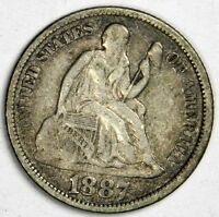 1887 SEATED DIME   NICE VF/XF PRICED RIGHT