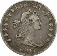 PCGS VF 35 CERTIFIED 1803 LARGE 3 DRAPED BUST SILVER HALF DOLLAR 50C