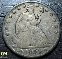 1854 O  SEATED LIBERTY HALF DOLLAR      MAKE US AN OFFER  W3183 ZXCV