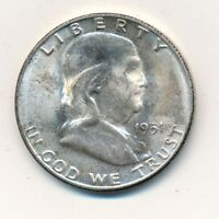 1951 S FRANKLIN SILVER HALF DOLLAR  A REAL BEAUTY UNCIRCULATED SHIPS FREE