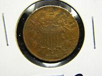 1866 TWO CENT PIECE AU DETAILS