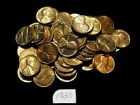 1963 D 1C LINCOLN MEMORIAL PENNY FULL ROLL 50 COINS TOTAL ALL RED BU BEAUTIFUL