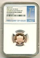 2015 S LINCOLN SHIELD CENT PROOF PF69 RED ULTRA CAMEO NGC FDI