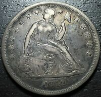 1842 SEATED LIBERTY DOLLAR     MAKE US AN OFFER  W3378 ZXCV