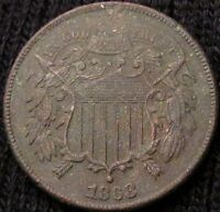 1868 TWO CENT PIECE   XF DETAILS 15130