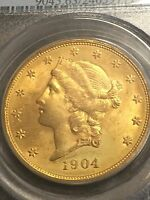 1904 PCGS MS63 $20 GOLD LIBERTY