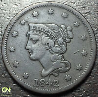 1842 BRAIDED HAIR LARGE CENT --  MAKE US AN OFFER  Y8192