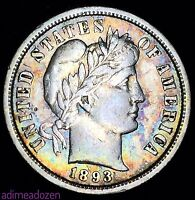 1893-S 10C BARBER DIME DOUBLED