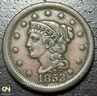 1853 BRAIDED HAIR LARGE CENT --  MAKE US AN OFFER  Y8208