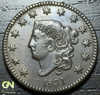1831 CORONET HEAD LARGE CENT N6 R1        MAKE US AN OFFER  O3041