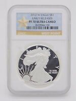 2012-W NGC PF70 ULTRA CAMEO 1OZ AMERICAN SILVER EAGLE EARLY RELEASES