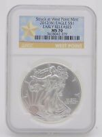2012-W $1 SILVER EAGLE NGC EARLY RELEASES STRUCK AT WEST POINT MINT BURNISHED