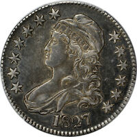 1827 PCGS EXTRA FINE -40 CAPPED BUST HALF DOLLAR 50C - OVERTON 133 - SQUARE BASE 2