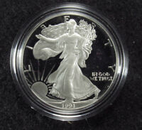 1991 PROOF AMERICAN SILVER EAGLE BOX/COA 1