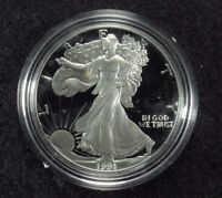 1991 PROOF AMERICAN SILVER EAGLE BOX/COA 2